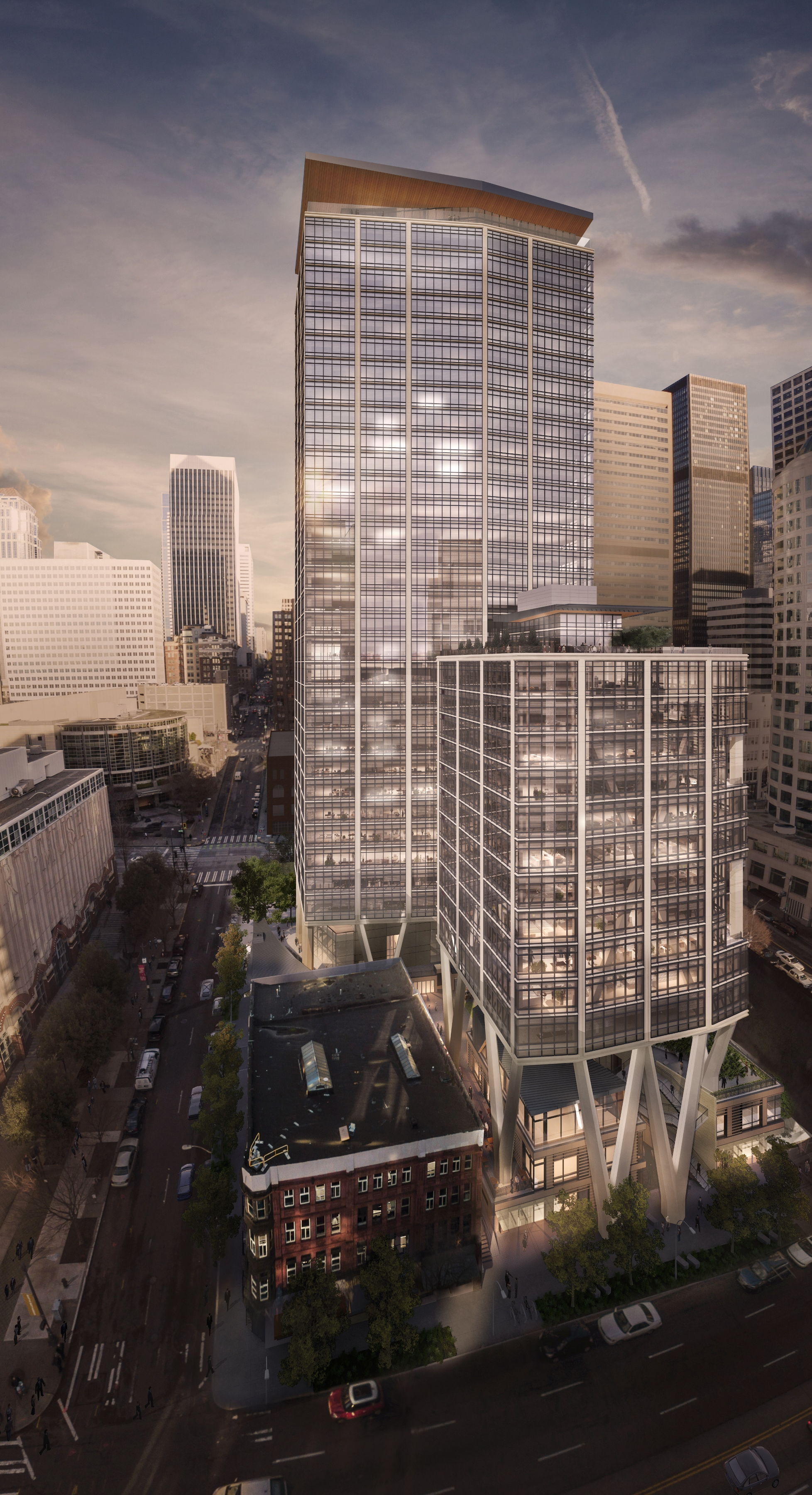 e1688639fcb Skanska s 2+U Lifted Tower Will Take Downtown Seattle to a Higher ...